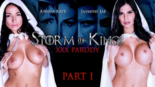Anissa Kate And Jasmine Jae Always Ready To Service His Majesty In Storm Of Kings XXX Parody: Part 1