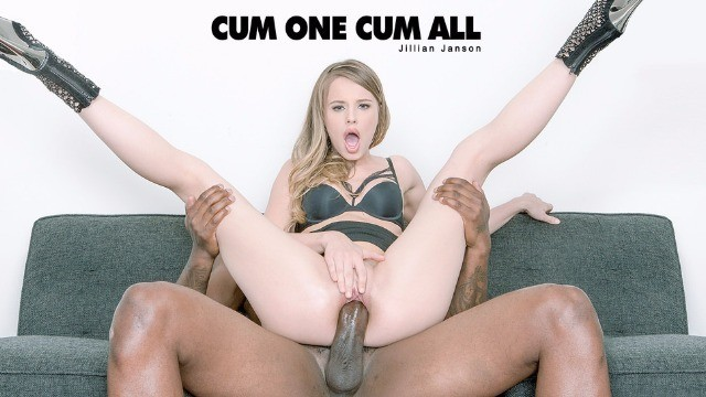 Babes Jillian Janson Decided To Measure The Size Of The Black Dick In Cum One Cum All