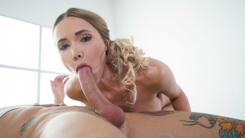 Massage Rooms - Sexy blonde Polina Maxima sensual oil soaked anal