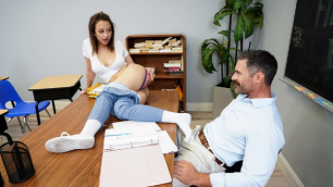 Perfect Student Marilyn Mansion In Naughty Trade For A Good Grade