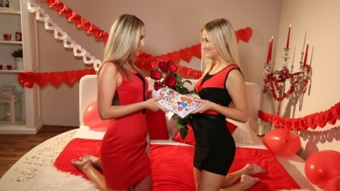 Lesbea - Valentine's Day Turned Into Good Sex Cayla Lyons And Cristal Caitlin